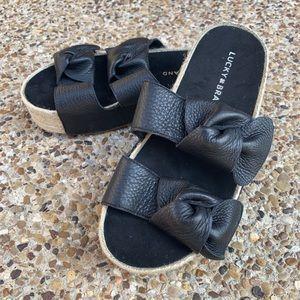 Lucky Brand Black Espadrilles Sandals Wmns Sz 7M